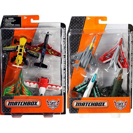 Matchbox Sky Busters Fire Rescue & Helicopter Pack Planes & Choppers MBX Rescue Blade / Blaze Buster / R.S.Q 55X / RSQ-SB72 / Blade Force / Air Grabber 1200 / Sky Shredder / H.E.L.I.X. ()
