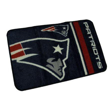NFL New England Patriots Non-Skid Throw Rug 20 x 30 Rd Corners - image 4 de 4