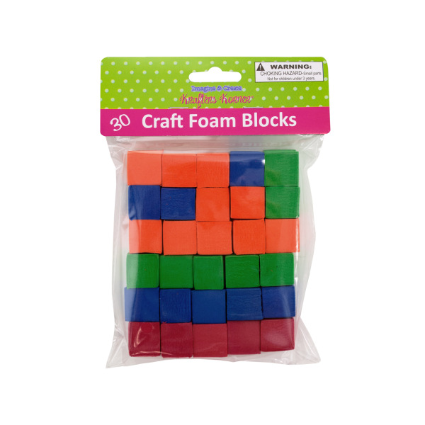 Craft Foam Blocks (Pack Of 12)