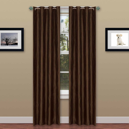 "Textured Wavy Curtain Panel with Grommets - 56"" x 84"" 2 Panels by Somerset Home"