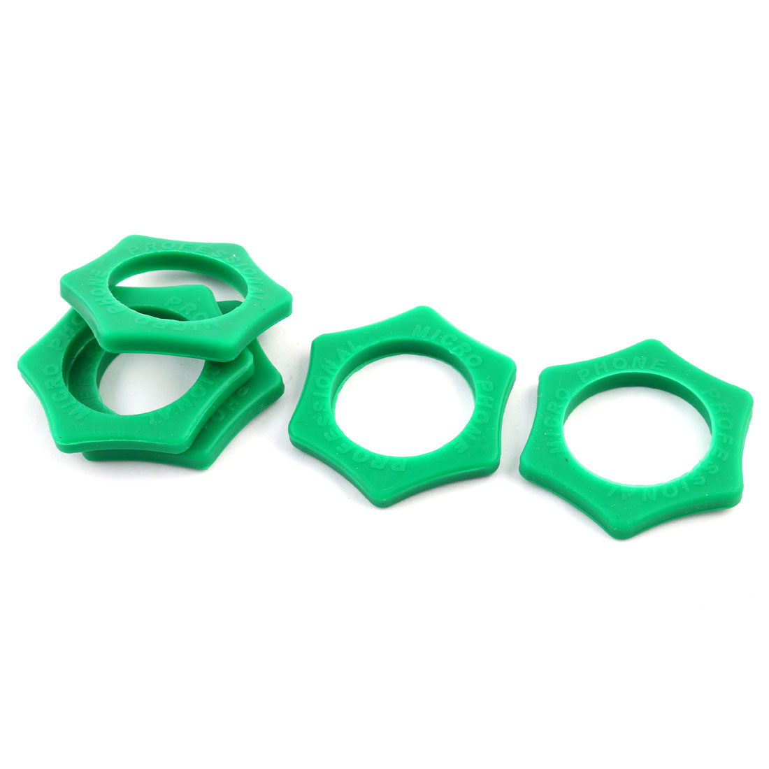 Handheld Microphone Anti Roll Protection Silicone Ring Green 3.7cm Dia 5 PCS - image 3 of 3