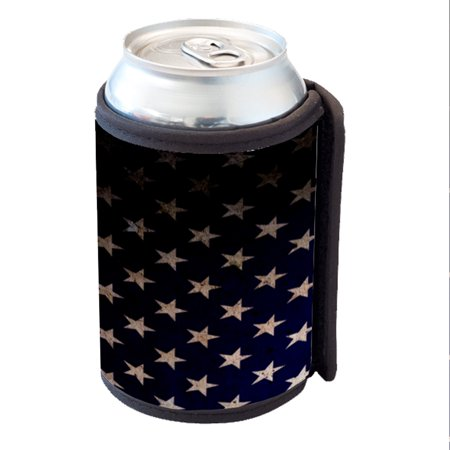 KuzmarK Insulated Drink Can Cooler Hugger - American Flag Stars (Cactus Cooler Drink)