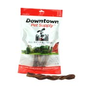 "5"" Braided BULLY Stick - 100% Natural By Downtown Pet Supply"