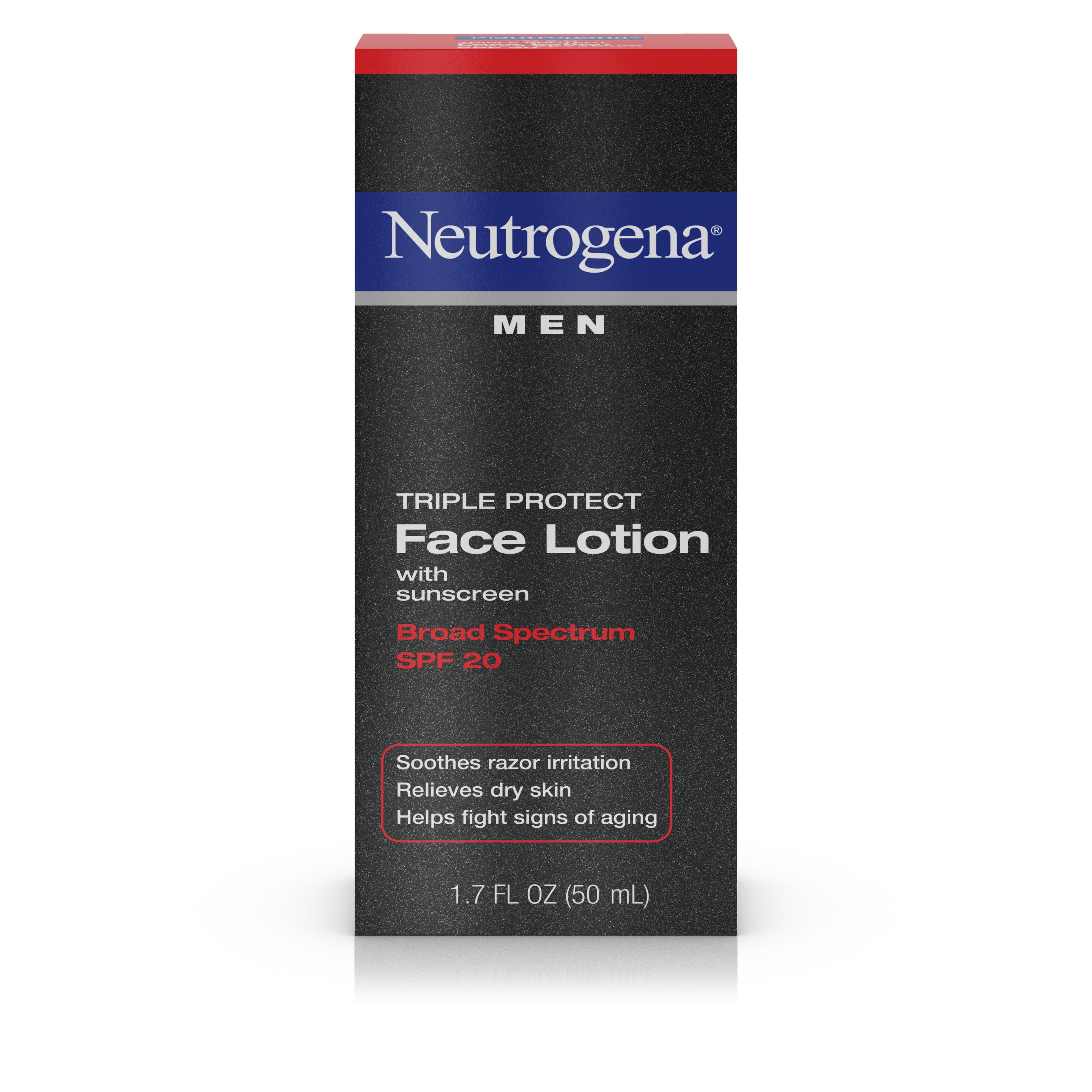 Neutrogena Triple Protect Mens Face Lotion Spf 20 17 Fl Oz Nivea Moisture Sun 50 100 M