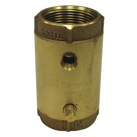- CAMPBELL Spring Check Valve with Taps,1-1/4 In. CVB-5TLF