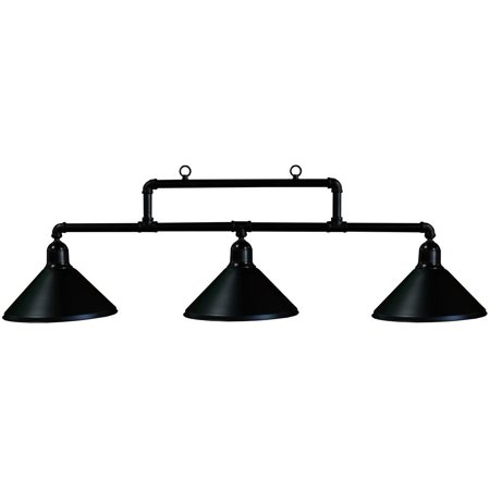 Ozone Black Pool Table Light Metal Pipes with Black Shades - Diy Pool Table Light