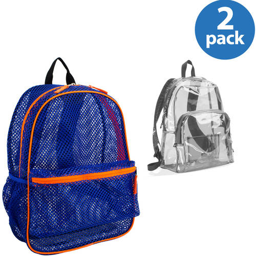 Eastsport Mesh or Clear Backpack 2-Pack Bundle, Your Choice