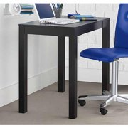 Ameriwood Parsons Desk with Drawer, Black Finish