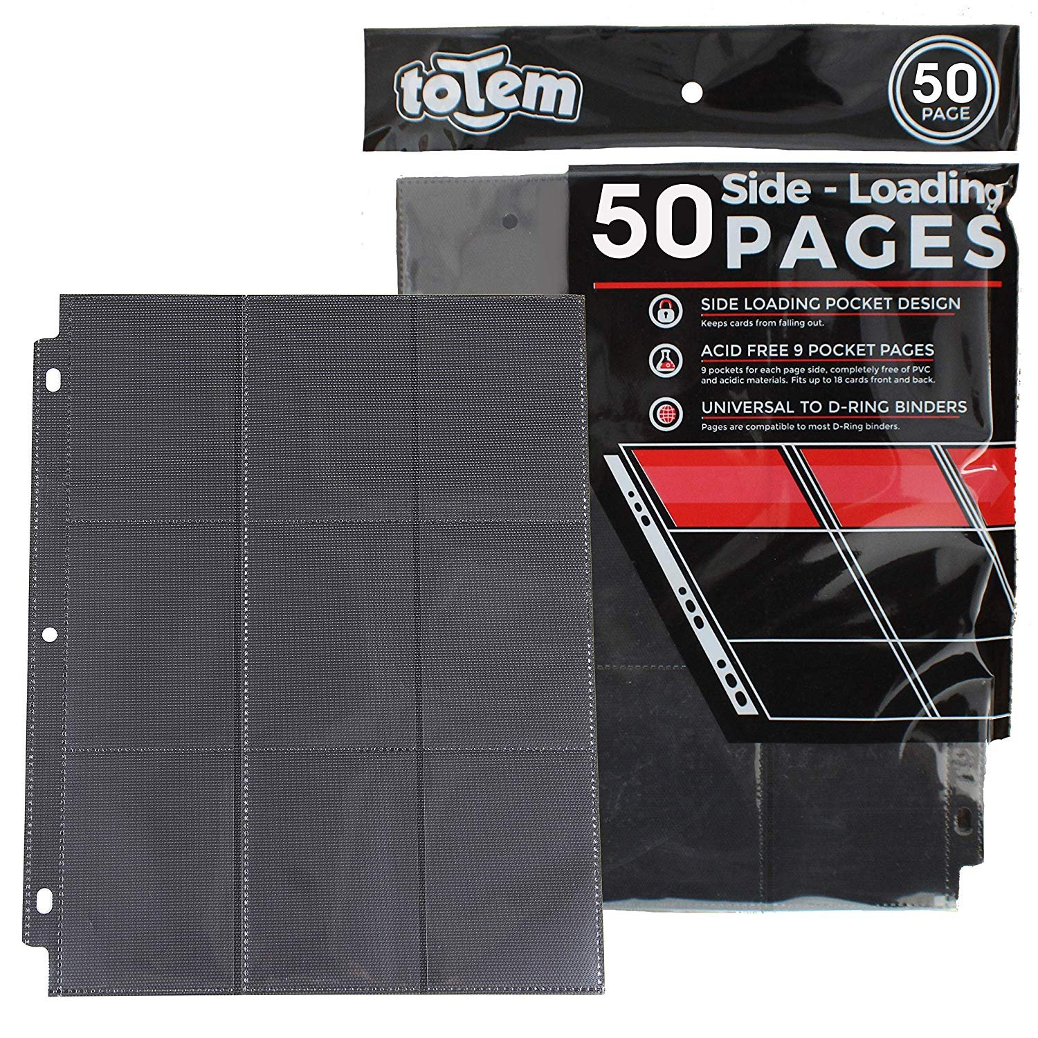 50 Side Load 9-Pocket Pages For Pokemon, Magic, YuGiOh