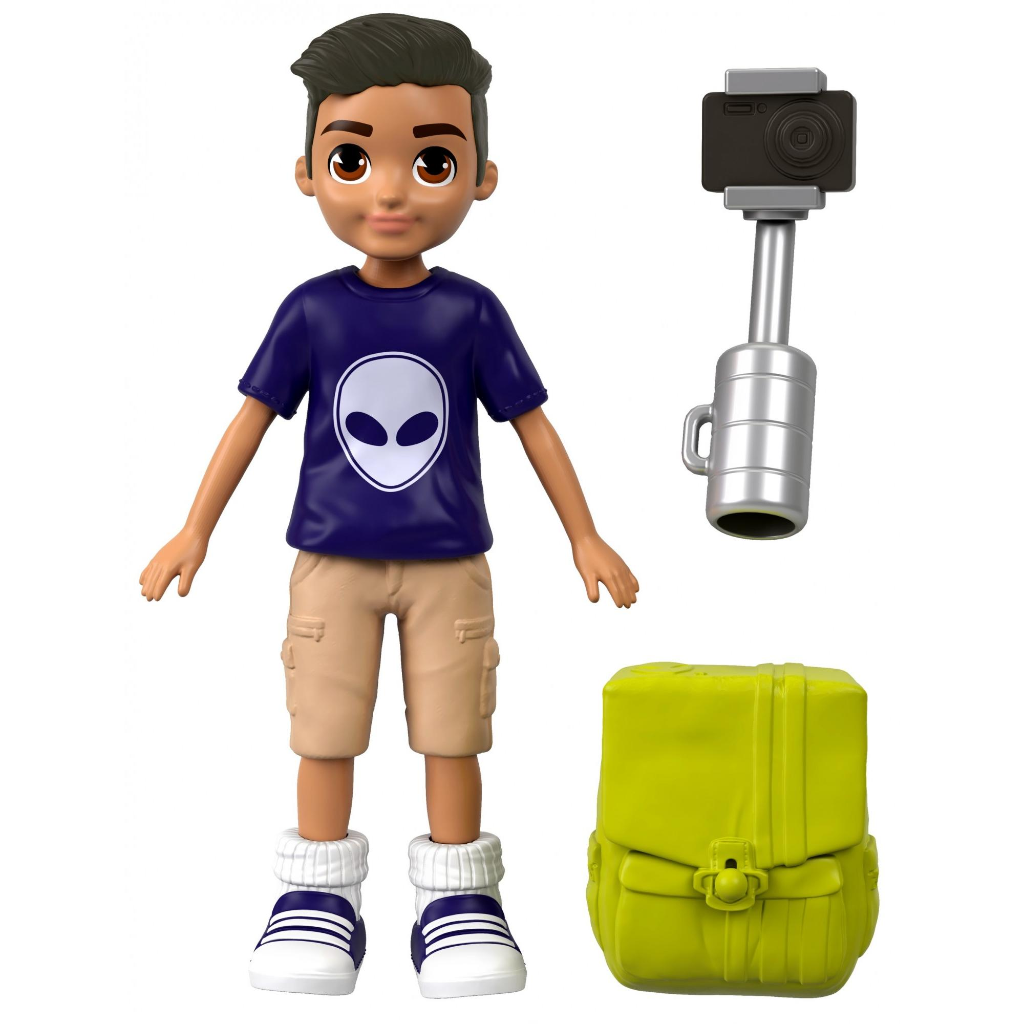 Polly Pocket Active Pose Selfie Stick Photo Journalistic Adventure Nicolas Doll