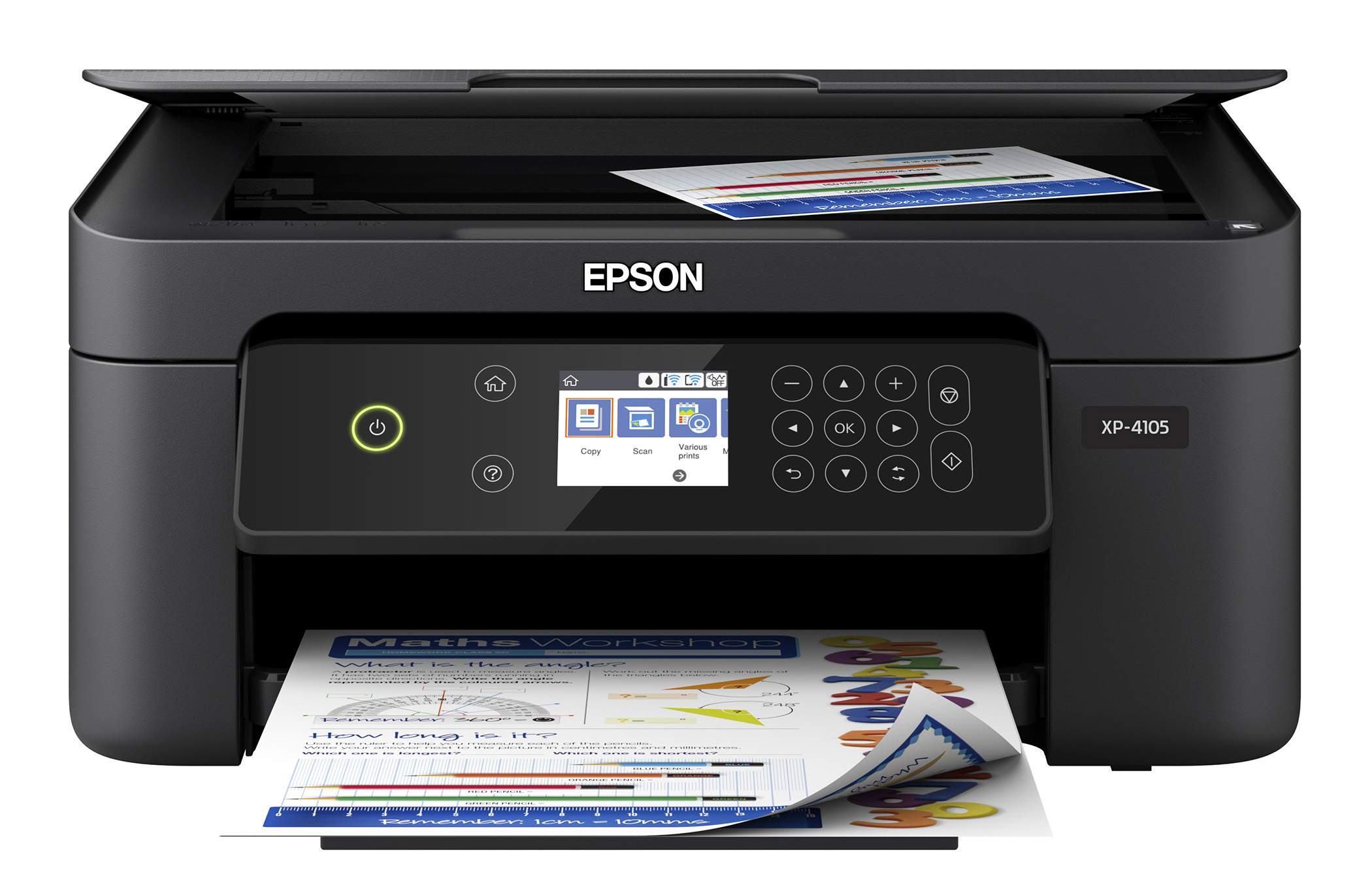 image relating to Inkjet Printable Vinyl Walmart identify Epson Term Dwelling XP-4105 Wi-fi Shade Printer with Scanner and Copier
