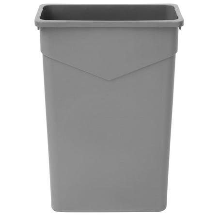 hubert trash receptacle garbage can narrow slim 23 gallon in grey 20 1 4 l x 11 3 4 w x 30 h. Black Bedroom Furniture Sets. Home Design Ideas