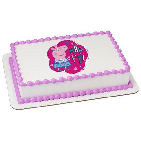 Peppa Pig Cake Topper (1/4 Sheet Peppa Pig-Sunny Days Edible Cake Image)