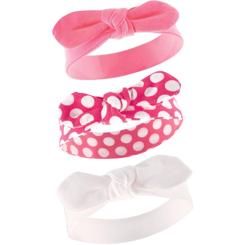 Yoga Sprout Newborn Baby Girls Headband 3-Pack - Polka Dot