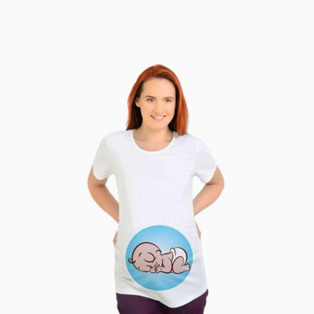 3041c903da8ba ONLINE - Cute Maternity Tees Sleeping Baby in my Belly Pregnant -  Walmart.com