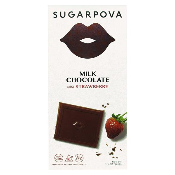 Sugarpova Milk Chocolate with Strawberry 3.5 oz Bars - Pa...