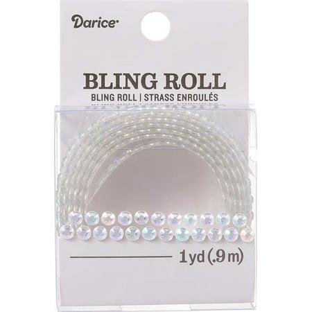 Darice 4mm Double Row Iridescent Bling Sticker Roll: 1 yard