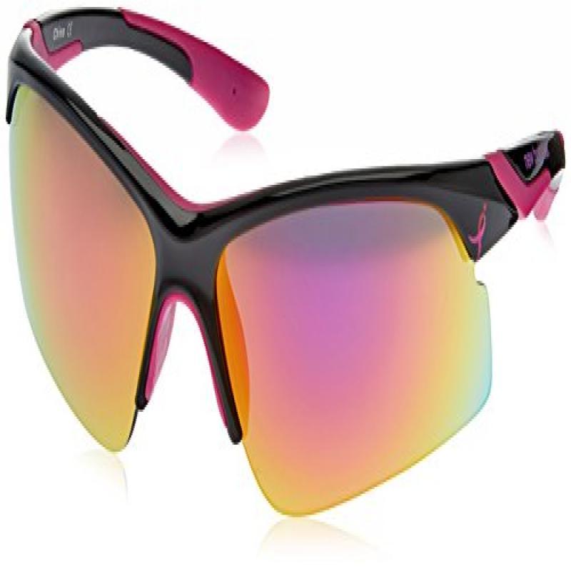 New Balance Ribbon Performer Sunglasses, Shiny Black with...