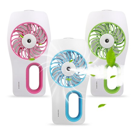Handheld Misting Fan Portable Hand Fan-Mini Rechargeable Battery Operated Fan, Portable Personal Travel Fan with Cooling Humidifier for Camping, Office and Outdoor