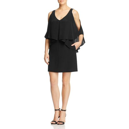Kobi Halperin Womens Robin Silk Ruffled Party Dress