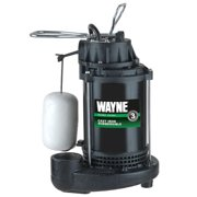 WAYNE CDU790 1/3 HP Submersible Cast Iron and Steel Sump Pump With Integrated