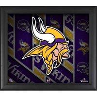 "Minnesota Vikings Framed 15"" x 17"" Team Threads Collage"