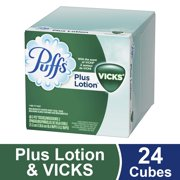 Puffs Plus Lotion with the Scent of Vicks Facial Tissues (48 Sheets, 24pk.)
