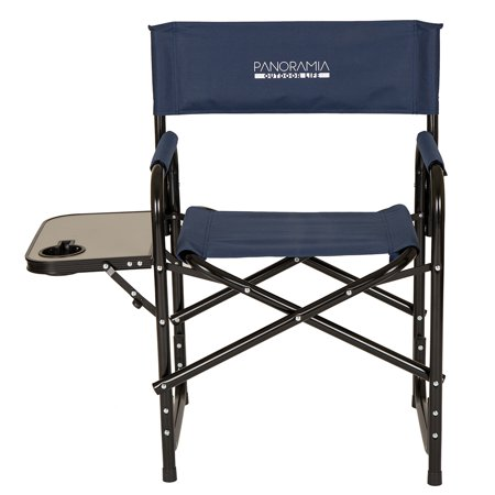 glitzhome 33 27 h camping outdoor folding metal director chair with
