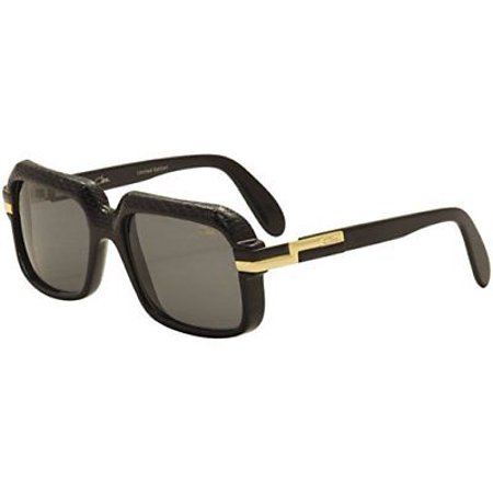 f671f1d5788 Cazal Sunglasses 607 3 705 Black Leather Limited Edition Gray Lens -  Walmart.com