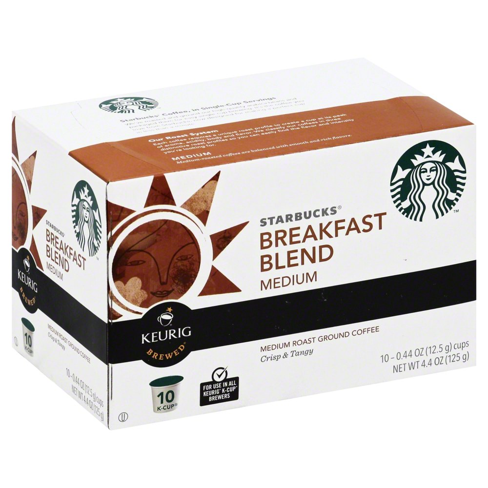 Starbucks Coffee Breakfast Blend, K-Cup Portion Pack for Keurig K-Cup Brewers, 10 CT (Pack... by Starbucks Coffee