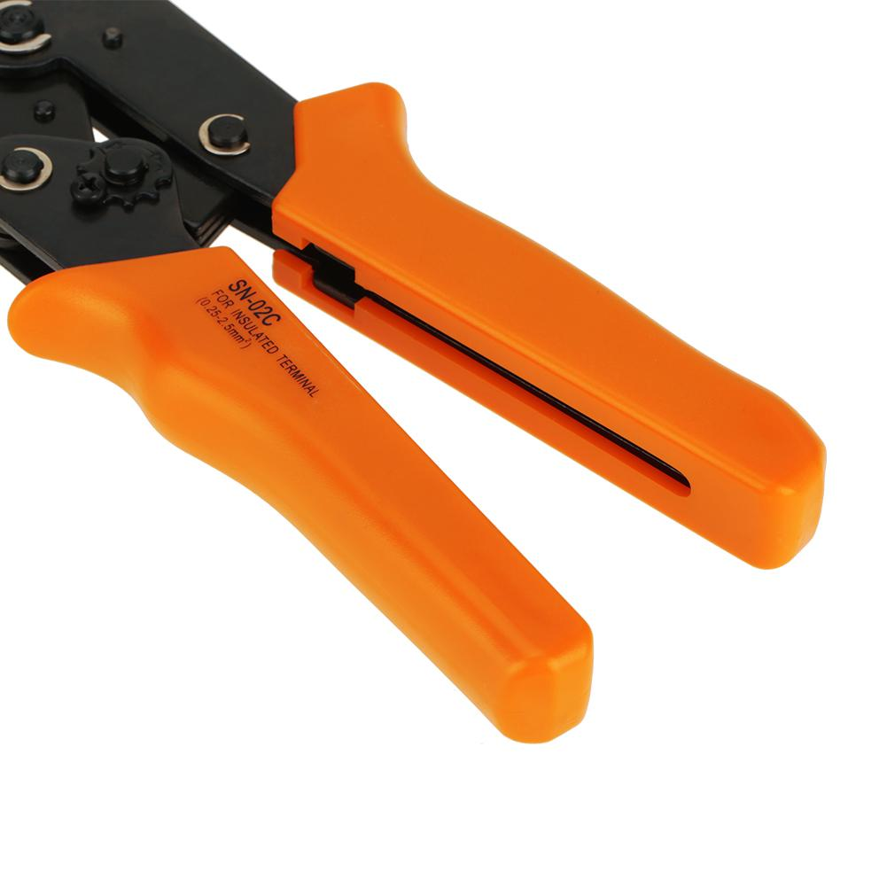 Cable Wire Ratchet Crimping Pliers Tools Kit 450 Electrical Terminal Connectors