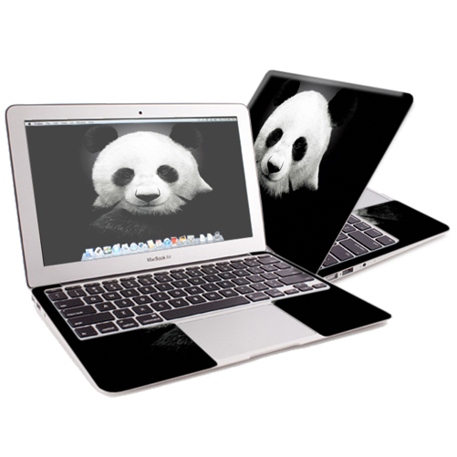 "Mightyskins Protective Skin Decal Cover for Apple MacBook Air 13"" (2010-2017 Model) with 13.3 inch screen wrap sticker skins Panda"