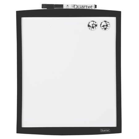 Quartet Magnetic Dry-Erase Board with Curved Frame, 9
