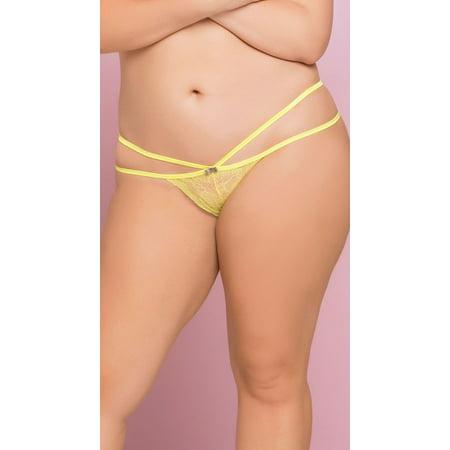 Plus Size Cage Lace Panty, Plus Size Sheer Lace Panty ()