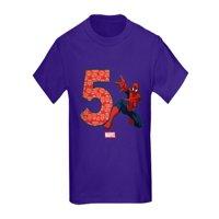 CafePress - Spider Man Birthday Age 5 Kids Dark T Shirt - Kids Dark T-Shirt