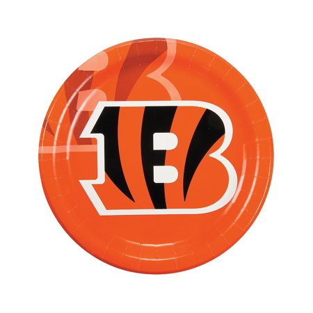 Fun Express - Nfl Cincinnati Bengals Dinner Plates for Party - Party Supplies - Licensed Tableware - Licensed Plates & Bowls - Party - 8 Pieces