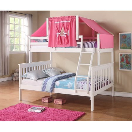 Donco Kids Donco Kids Twin Over Full Mission Bunk Bed with Tent Kit ()