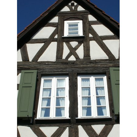 - LAMINATED POSTER Framing Window Timber Shutters Schwetzingen House Poster Print 24 x 36