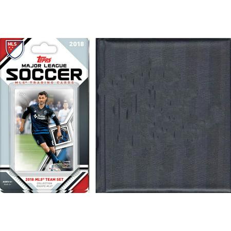 MLS San Jose Earthquakes Licensed 2018 Topps Team Set and Storage Album (Costume Store San Jose)
