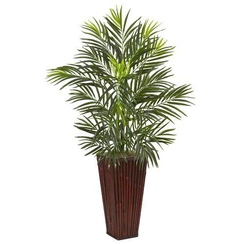 Bloomsbury Market Artificial Plastic Areca Floor Palm Tree in Planter