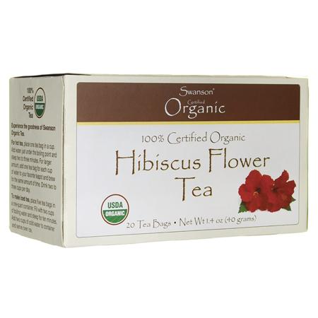 Swanson 100% Organic Hibiscus Flower Tea 20 Bag(S)](White Hibiscus)