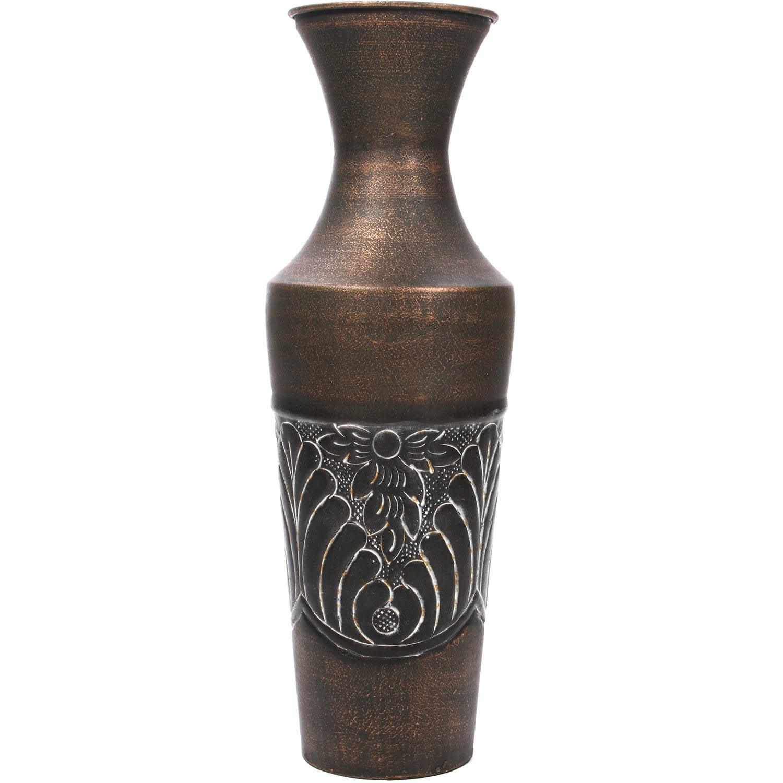"Elegant Expressions Metal Embossed Fluted Vase, 18"" by"