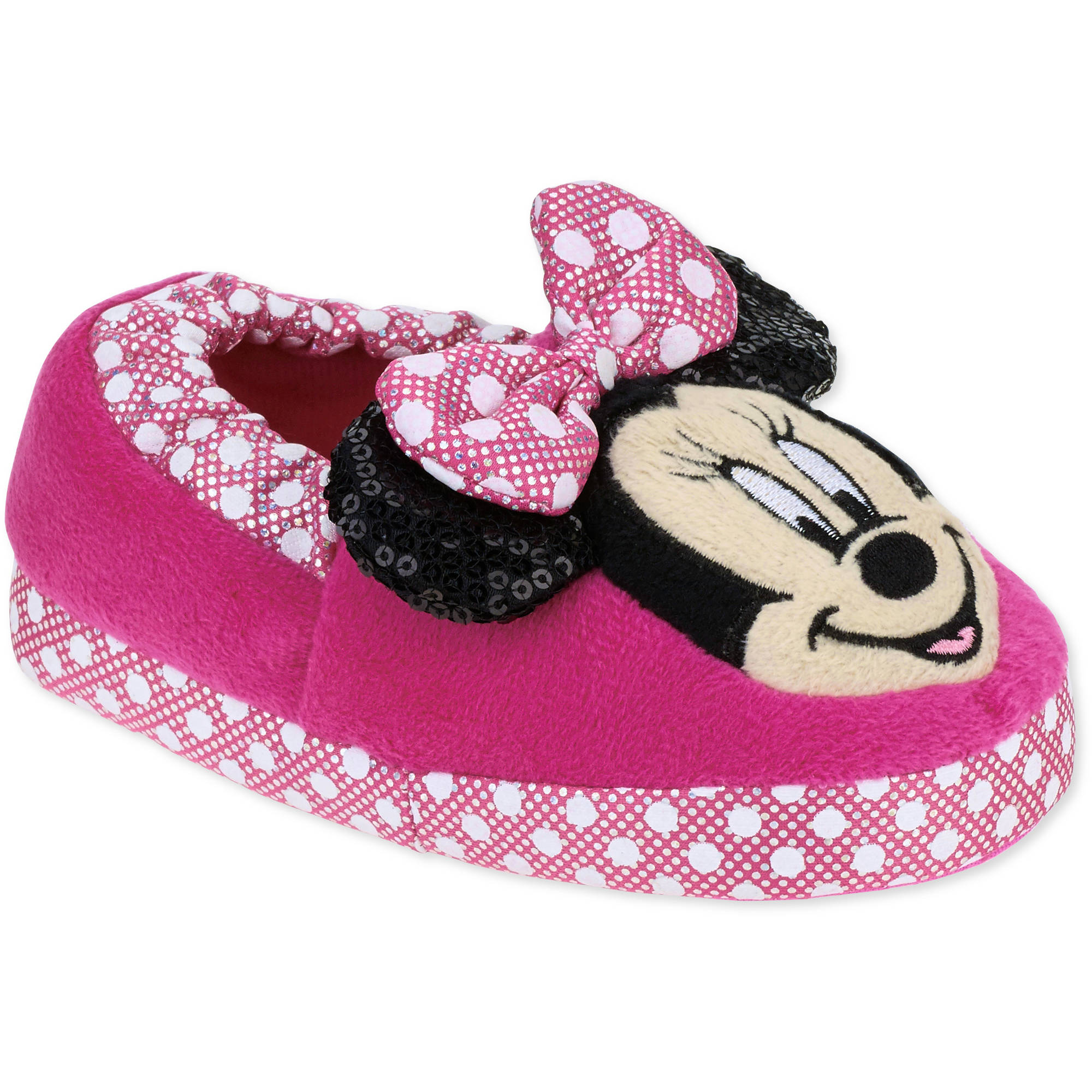 Minnie Mouse Toddler Girls' Slippers