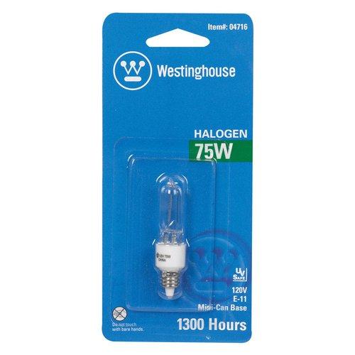 Westinghouse Lighting 75W E11 Dimmable Halogen Edison Stick Light Bulb