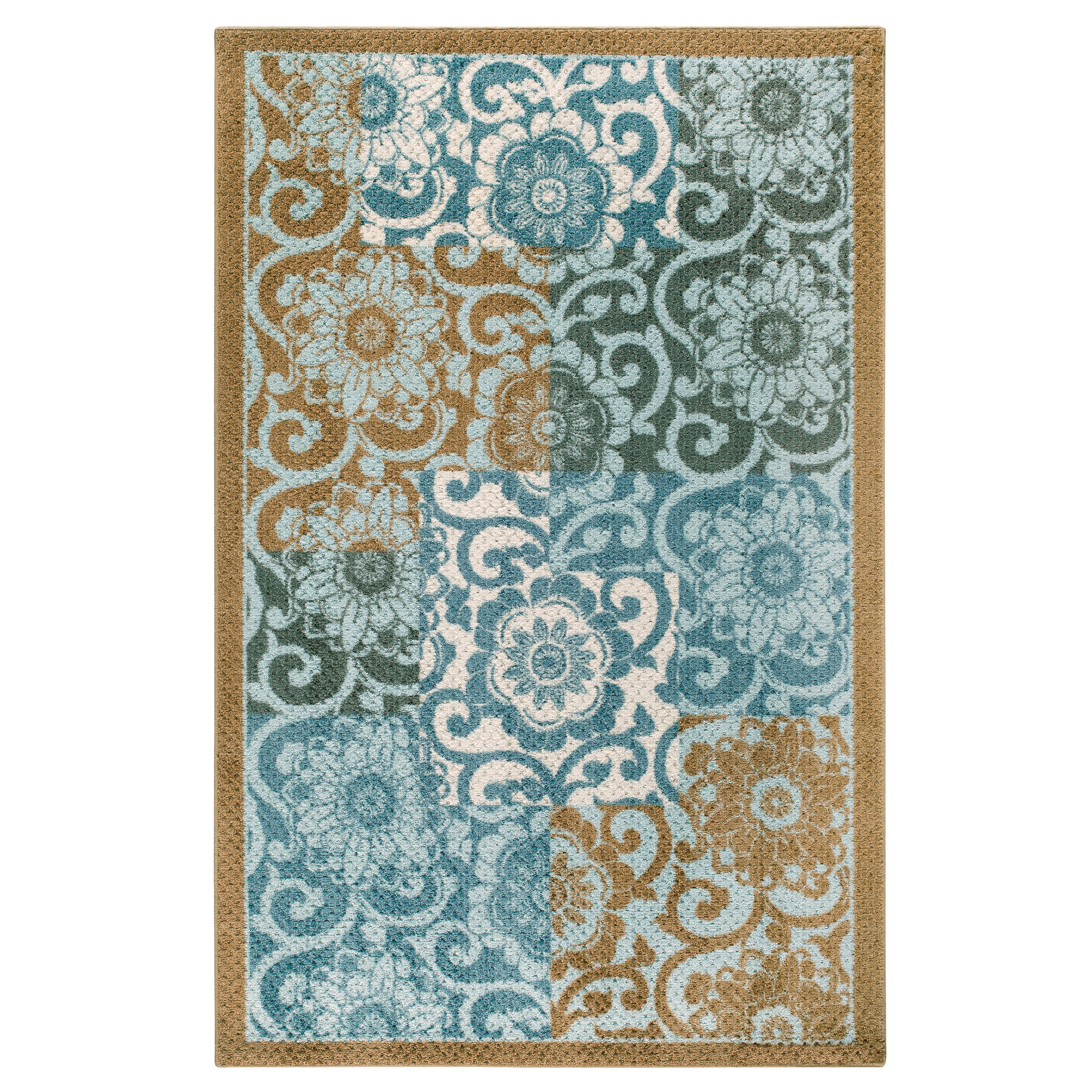 Better Homes Gardens Peony Blocks Textured Print Area Rug Or