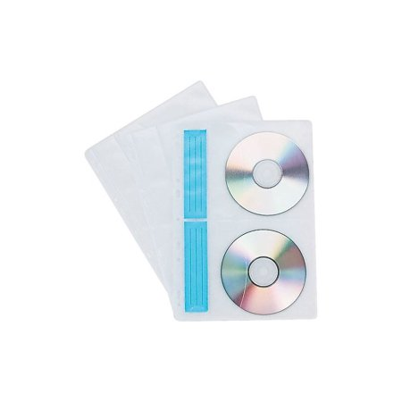 Staples CD/DVD Storage Binder Sheets White/Clear 10/Pk (Cd Binder Sheet)