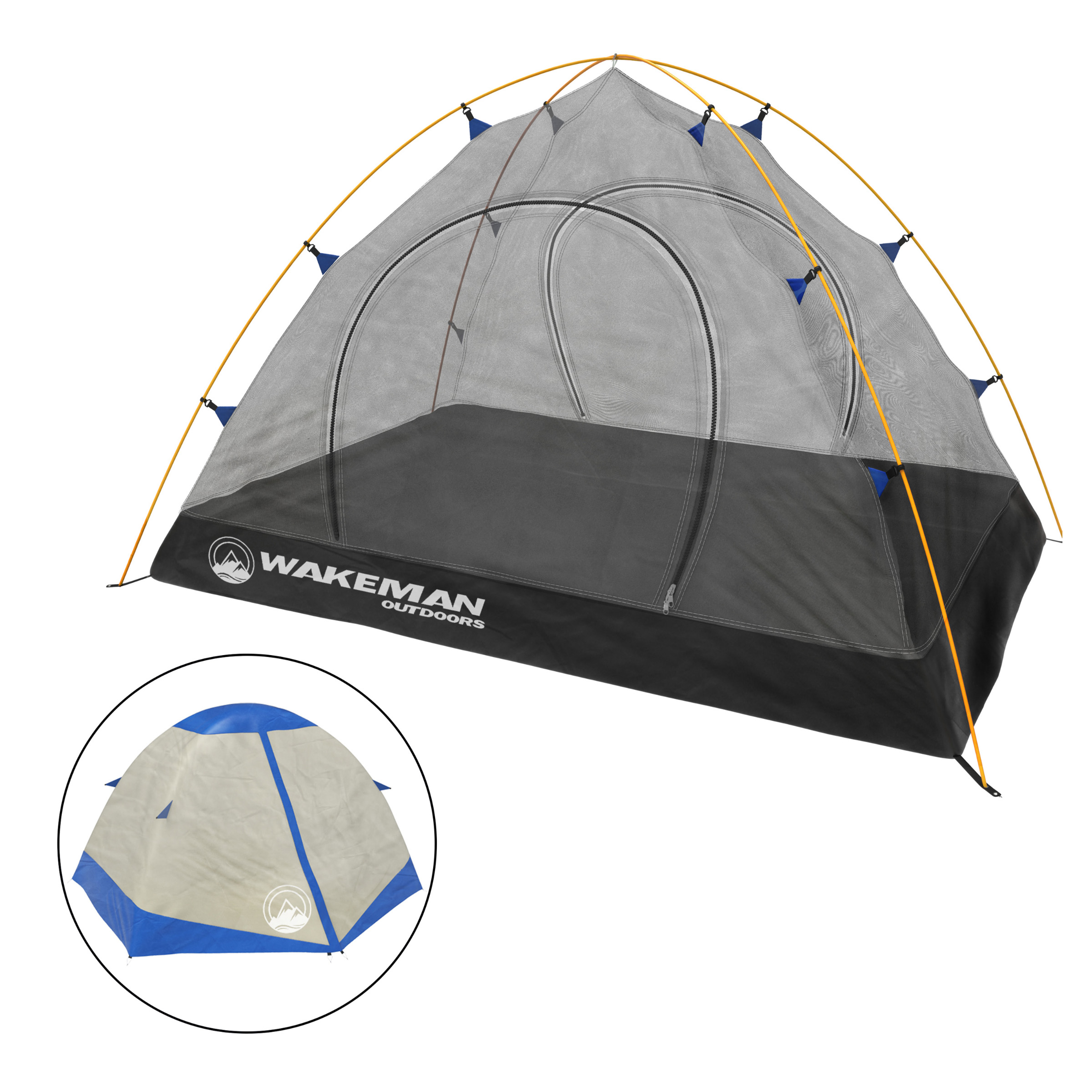 Details about  /2 Person Ultralight Tent Backpacking Camping Dome Waterproof Double Layer Hiking