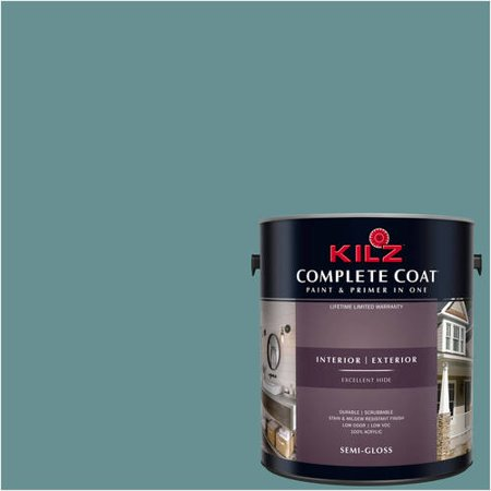 KILZ COMPLETE COAT Interior/Exterior Paint & Primer in One #RF290-01 Green Cast