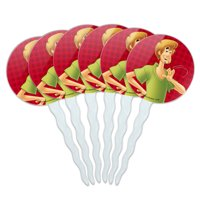 Scooby-Doo Shaggy Character Cupcake Picks Toppers Decoration Set of 6