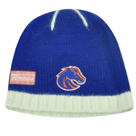 NCAA BOISE BRONCOS ANGORA WOMENS BEANIE KNIT HAT TOQUE - Halloween Stores Boise